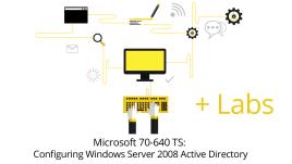 70-640 - Windows Server 2008 Active Directory Configuring + Live Lab