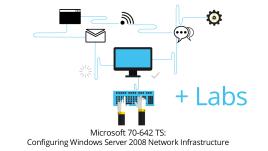 70-642 - Configuring Windows Server 2008 Network Infrastructure + Live Lab